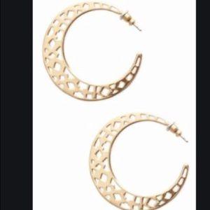 STELLA & DOT 'Avalon' Crescent Earrings